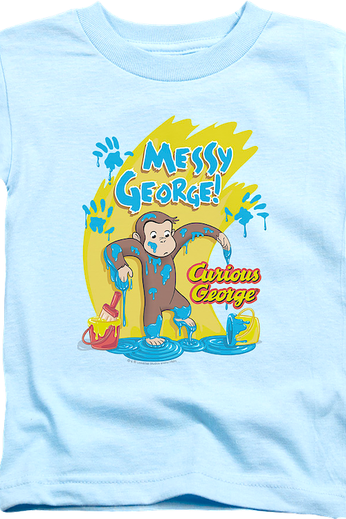 Youth Messy Curious George Shirt