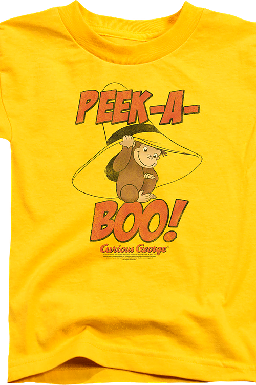 Youth Peek-A-Boo Curious George Shirt