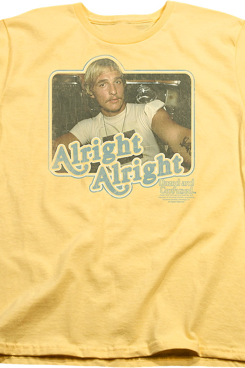 Womens Alright Alright Dazed and Confused Shirt