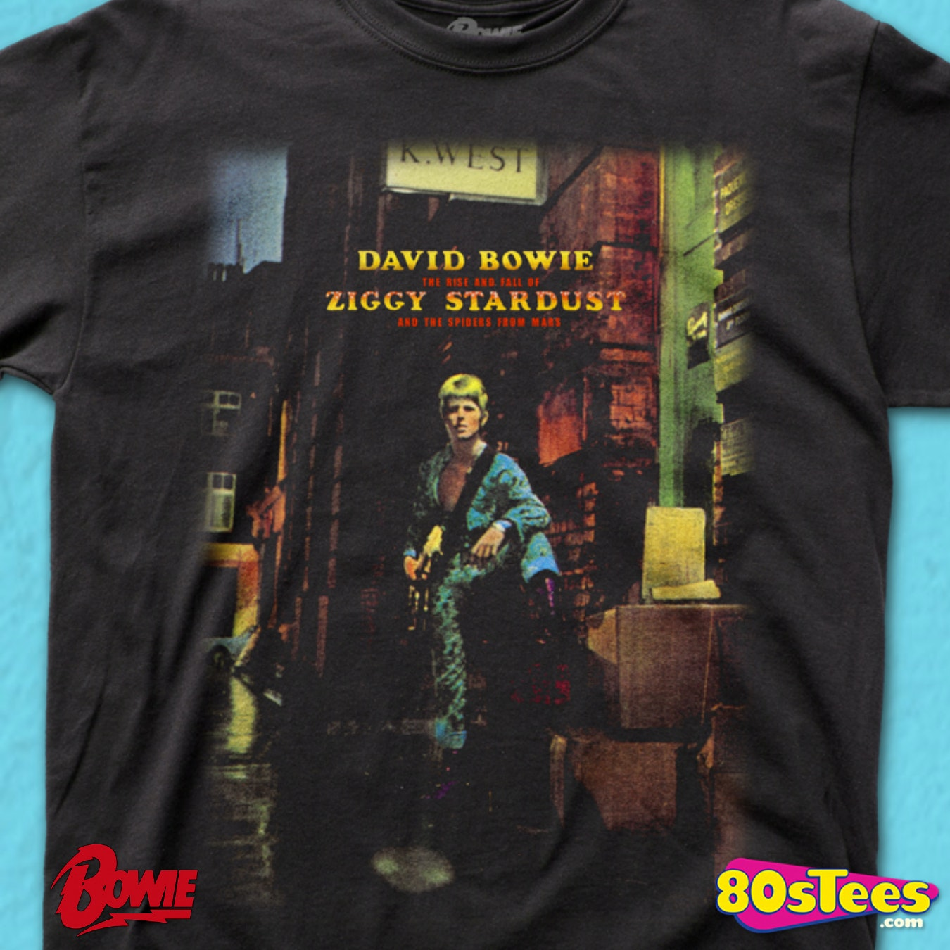 One of a Kind Custom Band Shirt Review Measurements David Bowie Ziggy Stardust World Tour T-Shirt Vintage Style Unisex Sz L