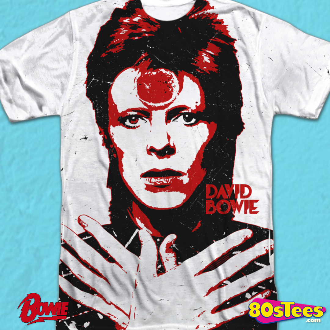 David Bowie Inspired Long Sleeve T-Shirt Ziggy Stardust Inspired 70/'s T-Shirt