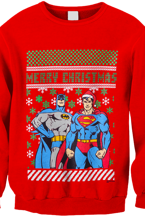 Batman Superman DC Comics Superhero Christmas Sweatshirt