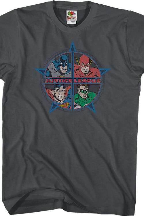 Four Heroes Justice League Shirt