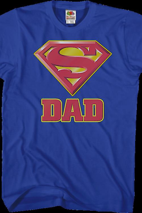 69eab0e7be16b Superman Dad T-Shirt: Super Hero Shirts at 80sTees.com