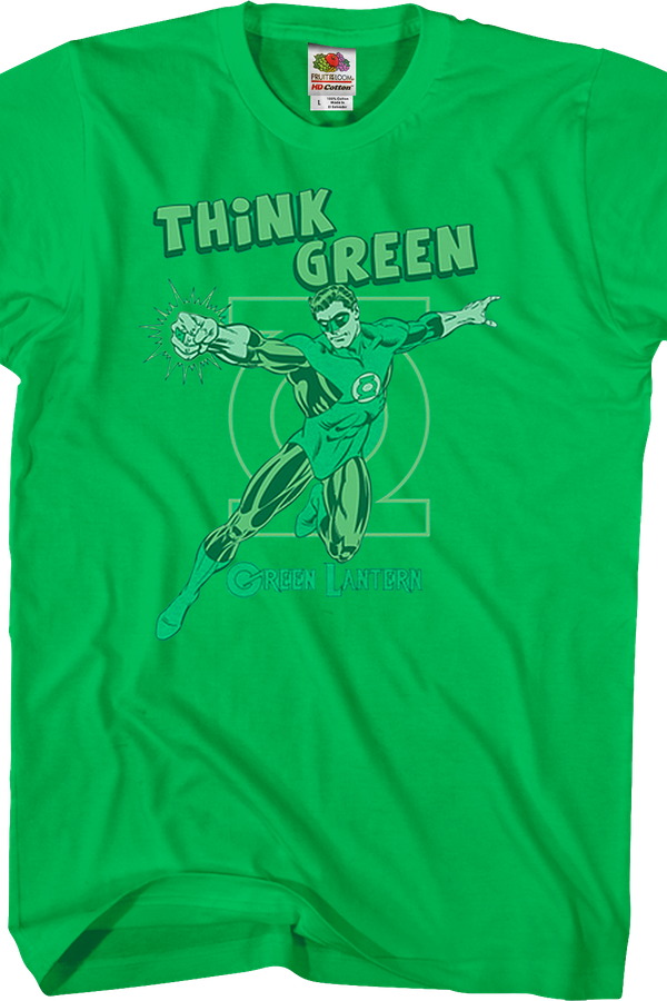 think green lantern t shirt dc comics mens t shirt. Black Bedroom Furniture Sets. Home Design Ideas