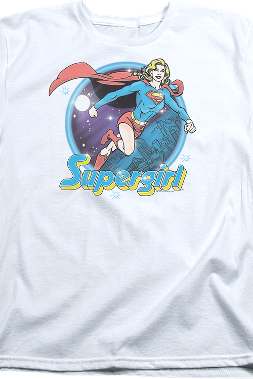 Womens Airbrush Supergirl Shirt