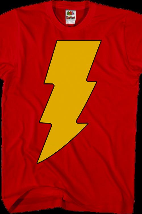 36006e2de Shazam Costume DC Comics T-Shirt: DC Comics Mens T-Shirt