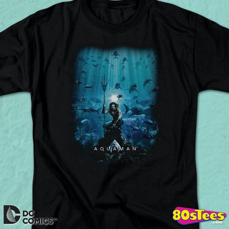 Aquaman T ShirtMens Movie Shirt Poster lJ31FKcT