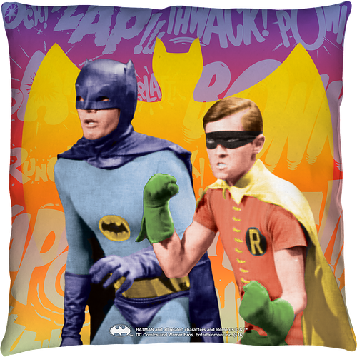Batman and Robin Throw Pillow
