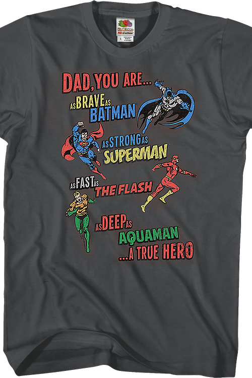A True Hero Justice League Father's Day T-Shirt