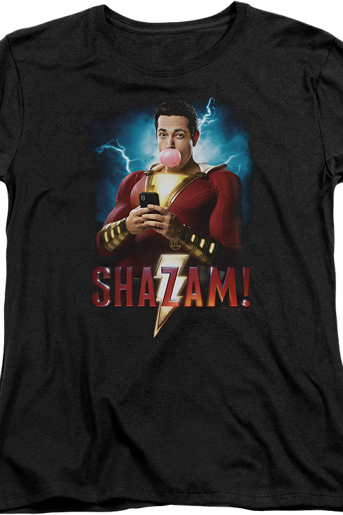 Womens Movie Poster Shazam Shirt