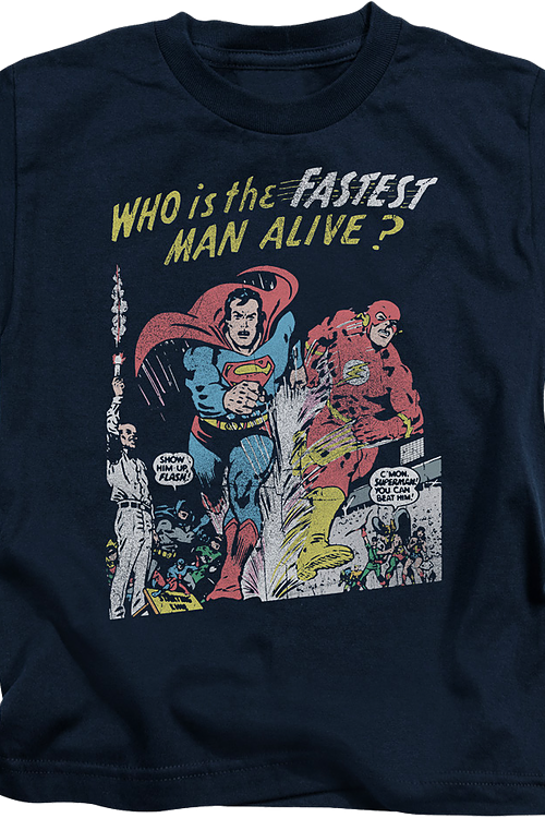 Youth Superman's Race With The Flash Shirt