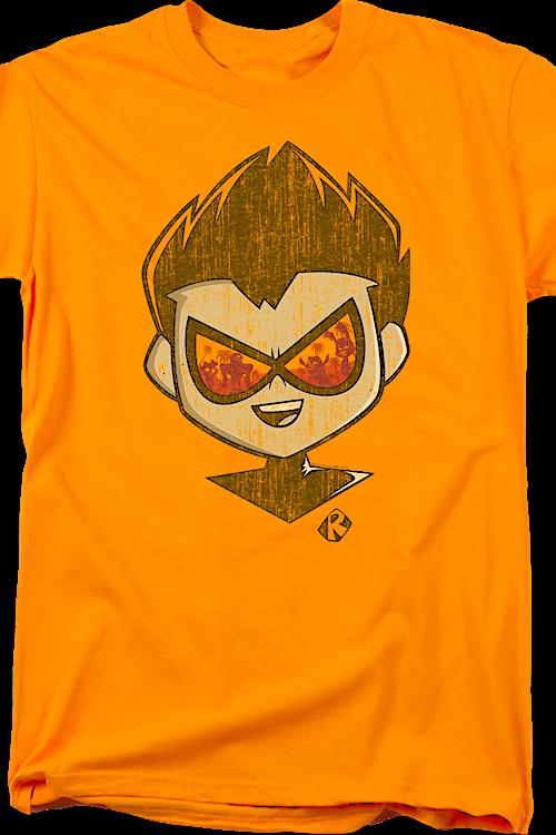 a6600978 Distressed Robin Teen Titans Go T-Shirt