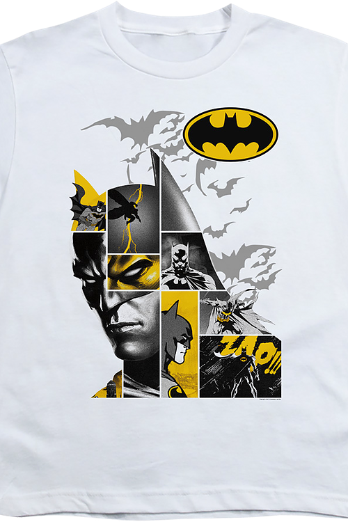 Youth Caped Crusader Collage Batman Shirt