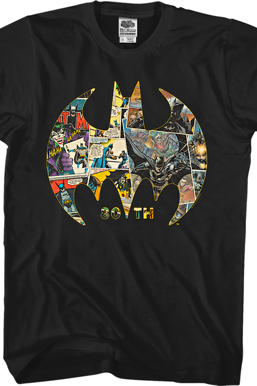 80th Anniversary Bat Symbol Collage Batman T-Shirt