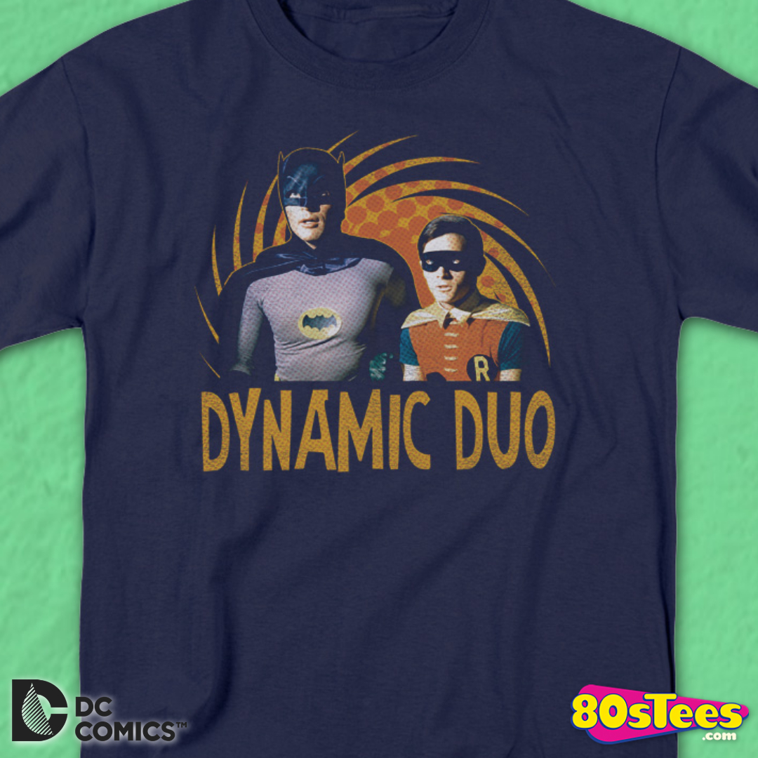 Batman Classic TV DC Comics Dynamic Batman /& Robin Big Boys T-Shirt Tee