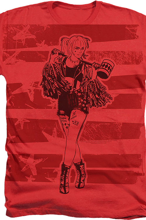 Harley Quinn Sketch Birds Of Prey T-Shirt