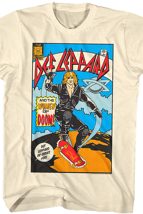Comic Book Cover Def Leppard T-Shirt