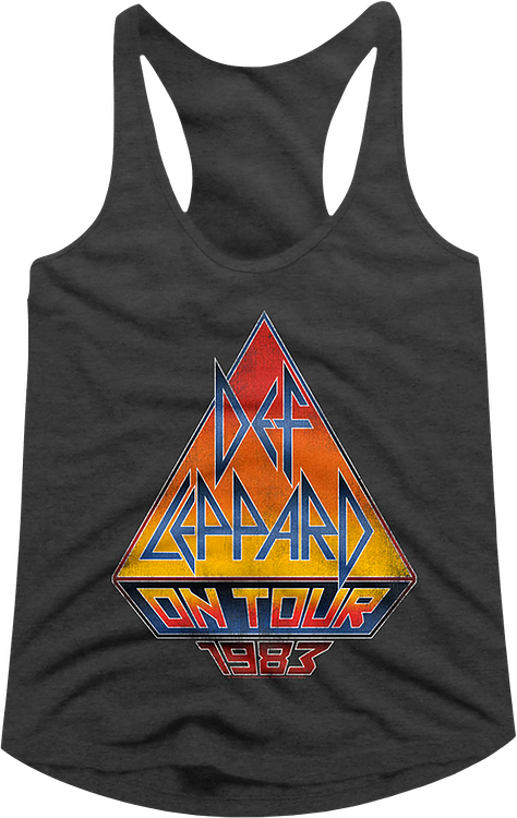 On Tour 1983 Def Leppard Racerback Tank Top