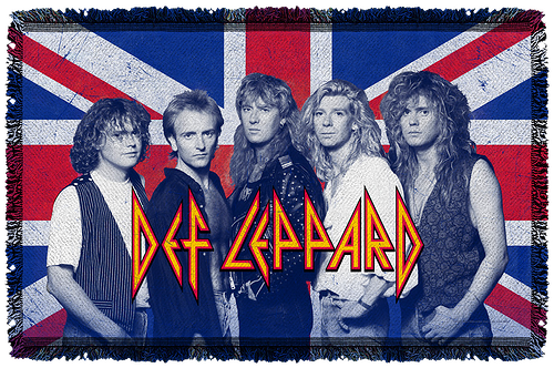 Def Leppard Woven Throw Blanket