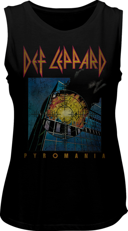 Ladies Pyromania Def Leppard Muscle Tank Top