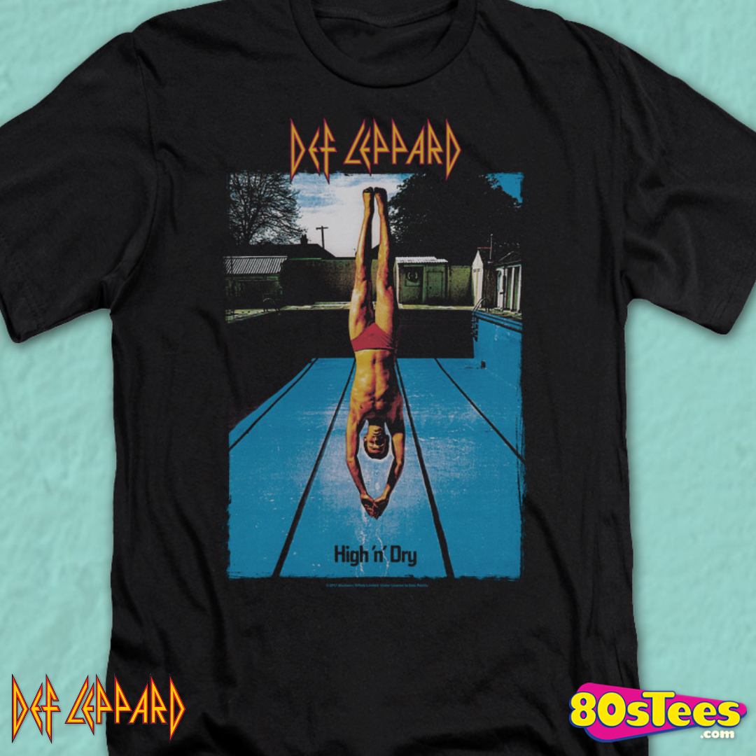 DEF LEPPARD shirt High n Dry 1981 Album Cover Men/'s T ROCK BAND Tour Music Merch