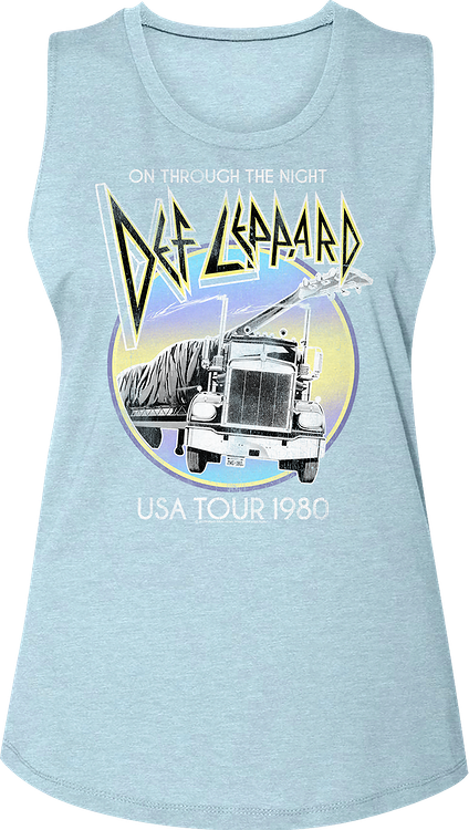 Ladies On Through The Night USA Tour Def Leppard Muscle Tank Top