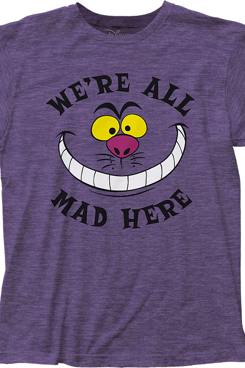 We're All Mad Here Alice In Wonderland T-Shirt
