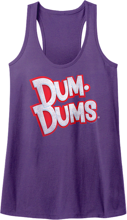 Ladies Dum-Dums Logo Racerback Tank Top