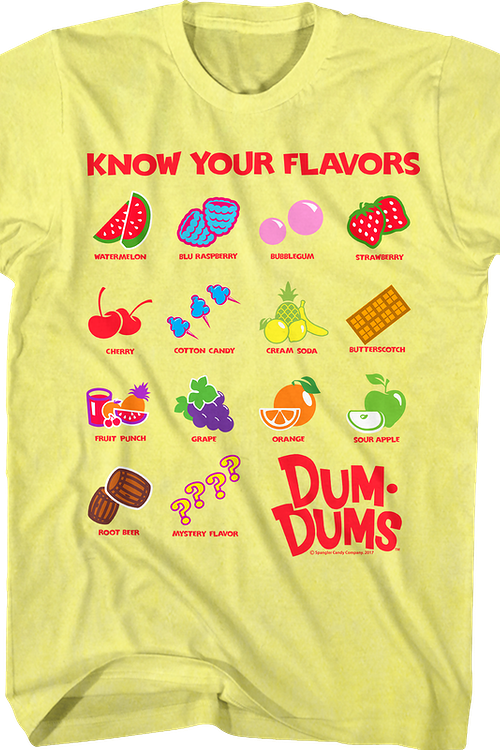 Know Your Flavors Dum-Dums T-Shirt