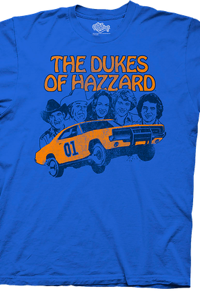 Group Cast Dukes of Hazzard Shirt