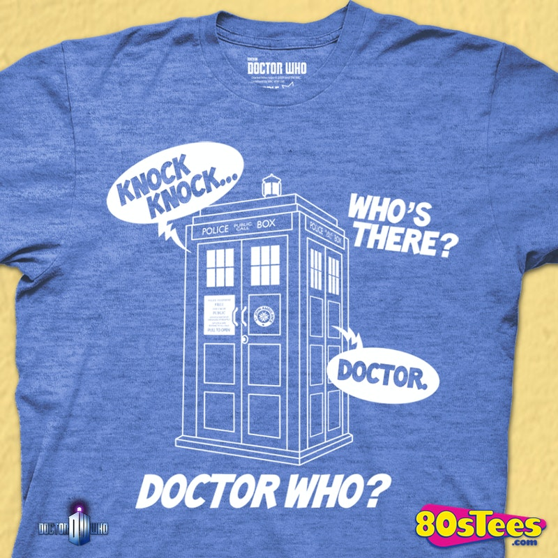 62251d3b0 Knock Knock Doctor Who Shirt: Doctor Who Mens T-shirt