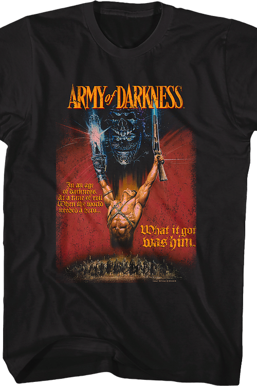 Tagline Poster Army of Darkness T-Shirt