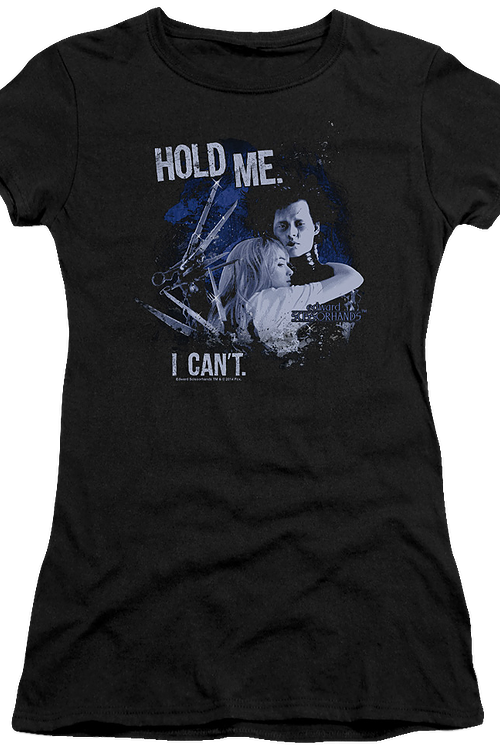 Ladies Hold Me Edward Scissorhands Shirt