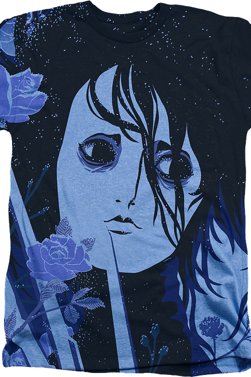 Blue Floral Edward Scissorhands T-Shirt