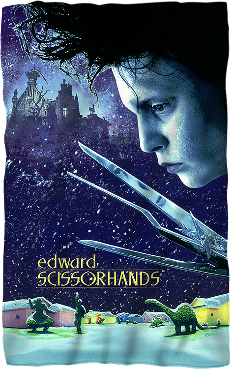 Edward Scissorhands 36 x 58 Thin Fleece Throw