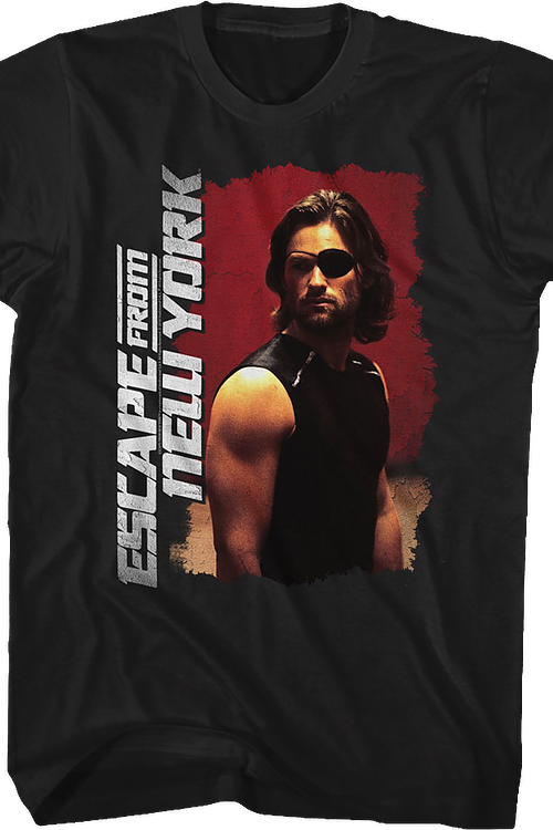 Distressed Snake Plissken Escape From New York T-Shirt