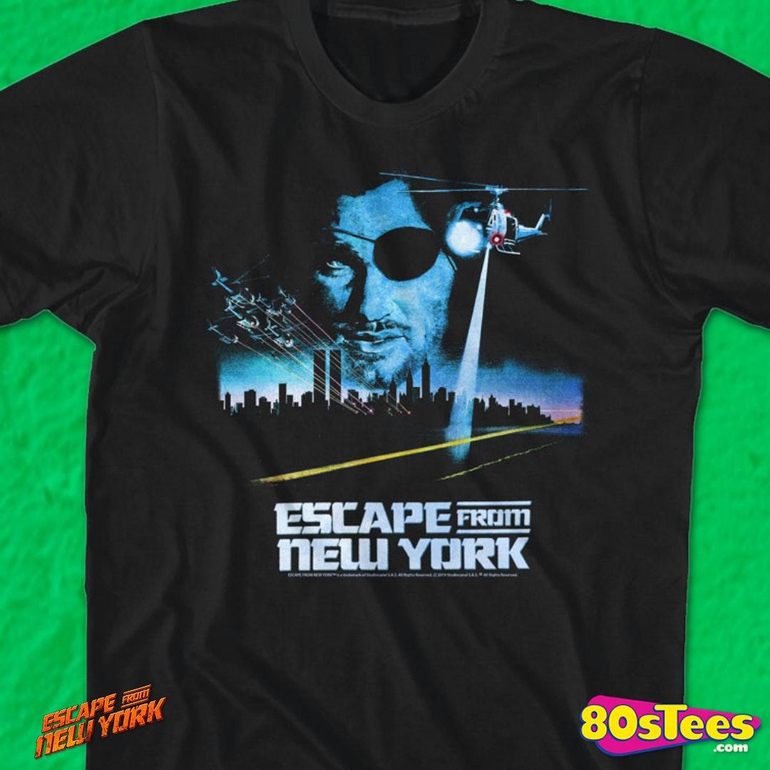 Escape NY T-shirt Snake Plissken prison détenu Escape Retro Movie Poster Tee