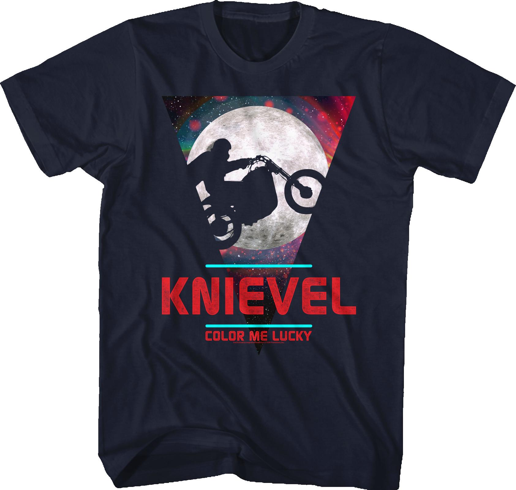 Evel Knievel T-SHIRT stunt motorbike daredevil Movie Ninja
