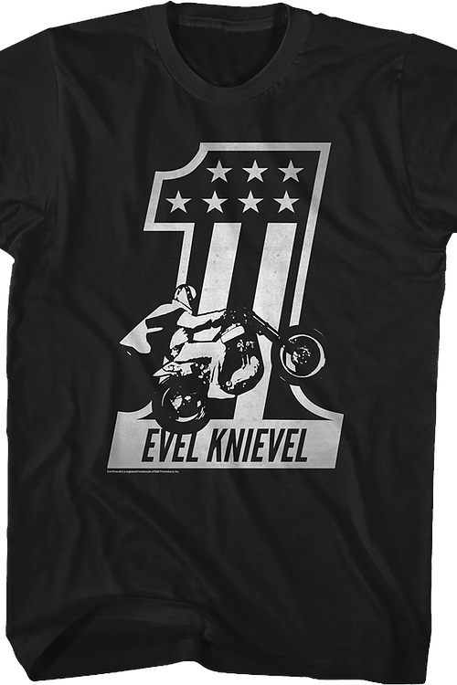 Black And White Evel Knievel T-Shirt