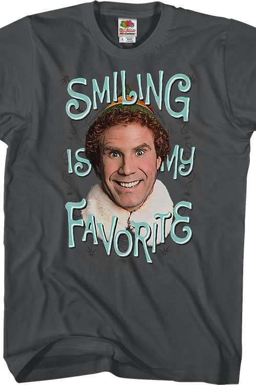 Smiling Is My Favorite Elf T-Shirt