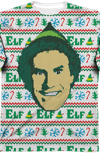 Faux Ugly Sweater Buddy the Elf Long Sleeve Tee