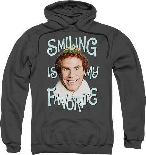 Smiling Is My Favorite Elf Hoodie