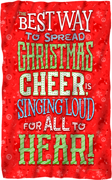 Christmas Cheer Elf Fleece Blanket