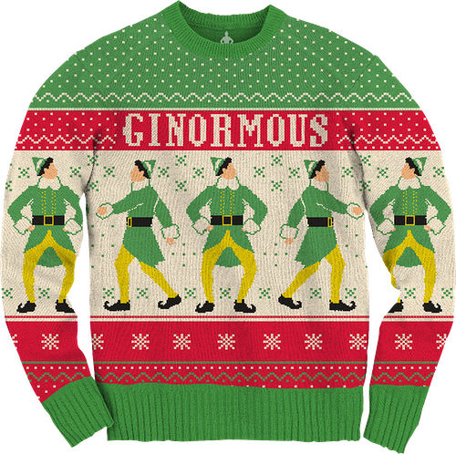 Ugly Knit Ginormous Elf Christmas Sweater