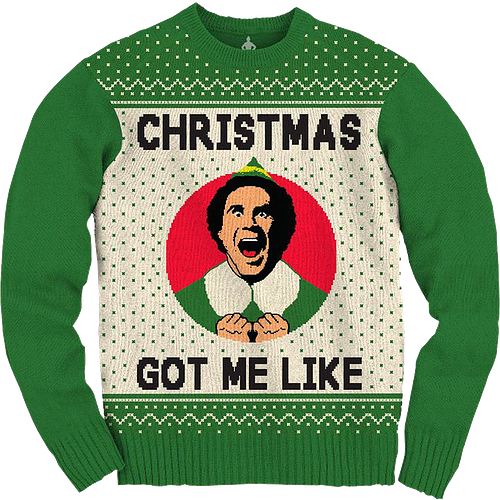 Ugly Knit Christmas Elf Sweater