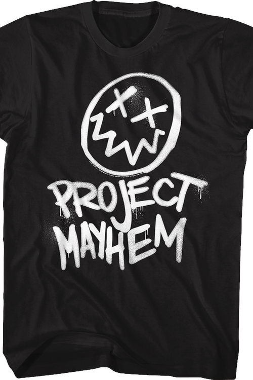 Project Mayhem Graffiti Fight Club T-Shirt