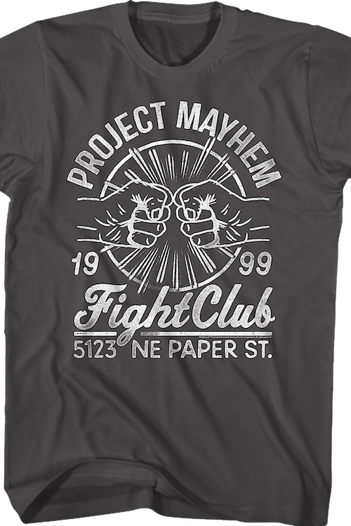 Project Mayhem 1999 Fight Club T-Shirt