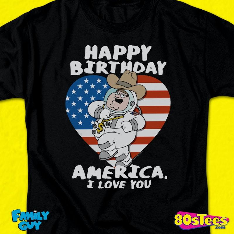 Happy Birthday America Family Guy T Shirt