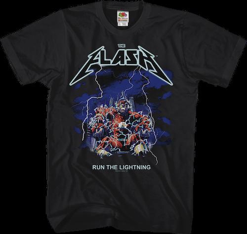 The Flash Run The Lightning Metallica Parody Shirt